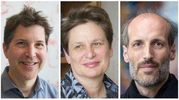 El bioquímico David Baker (izda), la neurobióloga Catherine Dulac (centro) y el matemático Martin Hairer (dcha) son tres de los premiados.
