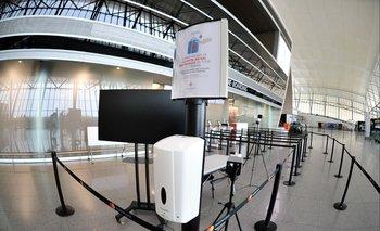 Medidas sanitarias en el Aeropuerto de Carrasco