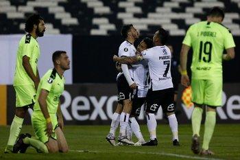 El festejo del gol de Gabriel Suazo