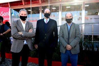 Santiago Nemiña, Fernándo Parrado y Juan Manuel Gasparri
