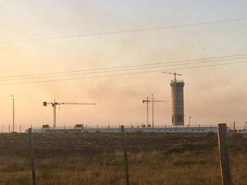 Planta de UPM en construcción en Paso de los Toros
