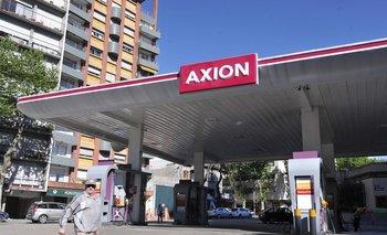Estación de Axion en Montevideo.