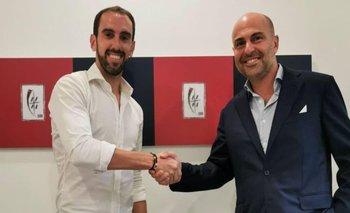 Godín con el presidente Tommaso Giulini