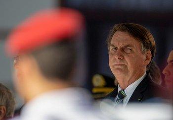 Jair Bolsonaro, presidente de Brasil, durante una ceremonia en Río de Janeiro