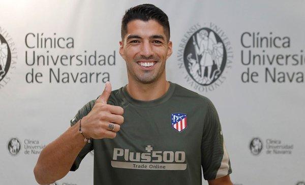 Suárez pasó el reconocimiento médico de Atlético, que juega el domingo