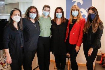 Cecilia Núñez, Verónica Mattos, Laura Vico, Marcela Girardelli, Sandra Marcos y Alexandra Dragone