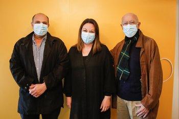 Luis Santellán, Marcela Girardelli y Conrado Pintos