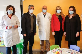 Verónica de Luca, Ricardo Méndez, Álvaro Galiana, Sandra Marcos y Marcela Girardelli