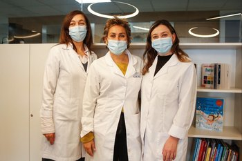 Virginia Longo, Marie Boulay y Andrea Pino