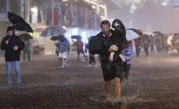 El Servicio Meteorológico Nacional de Estados Unidos afirmó que registró 3,15 pulgadas (8 cm) de lluvia en el Central Park de Nueva York en solo una hora