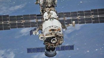 Imagen de la estación desde una nave espacial Soyuz el año pasado