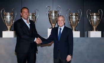 Ignacio Ruglio se entevistó con el presidente de Real Madrid, Florentino Pérez