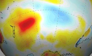 """La """"mancha del sur"""" se ha venido calentando a una tasa cuatro veces superior a su entorno"""