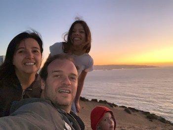Martín Tornini junto a su familia en Valparaiso