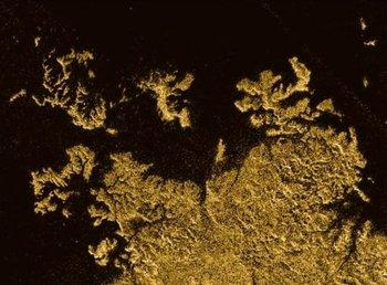 Ligeia Mare en Titán.