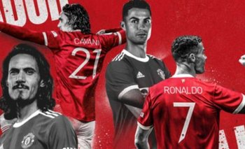 Ronaldo y Cavani, figuras del United