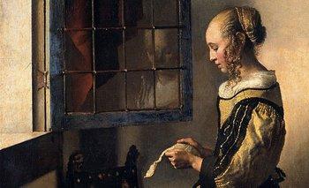 Muchacha leyendo una carta en la ventana abierta, Johannes Vermeer, 1657-59. Detalle