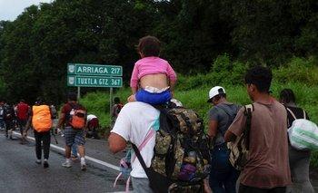 El grupo de personas estaba formado principalmente de salvadoreños, hondureños y guatemaltecos, además de algunos haitianos y venezolanos