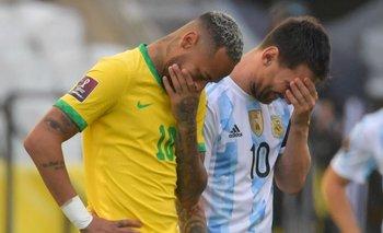 Messi y Neymar el pasado domingo en el partido suspendido