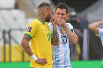 La charla de Neymar y Messi