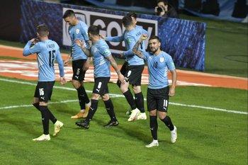 De Arrascaeta celebra el 1-0