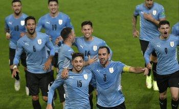 Festejo celeste tras la victoria contra Bolivia