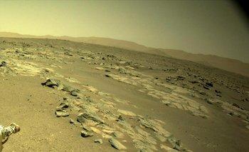 Rocas detectadas por las cámaras del drone de la NASA.