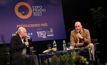 Juan Carlos López y Rafael Ferber, durante la presentación de la Expo Prado 2021.