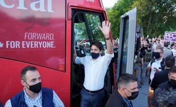 Justin Trudeau está en campaña para las elecciones del 20 de septiembre.