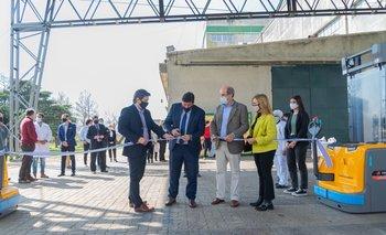 Inauguración de la planta de paneles fotovoltaicos.