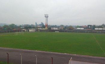 El estado del campo de juego del Estadio Goyenola este miércoles 8 de setiembre
