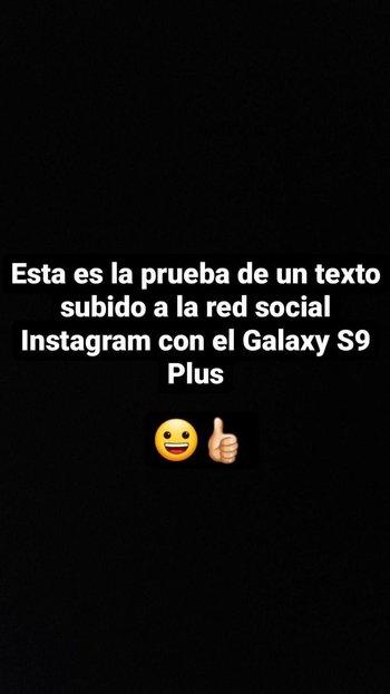 Captura de pantalla de prueba usando emoticones en Instagram de la versión Android