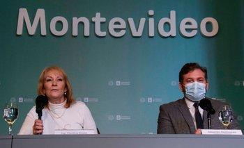 Recibimiento de la intendenta de Montevideo Carolina Cosse al presidente de Conmebol Alejandro Domínguez