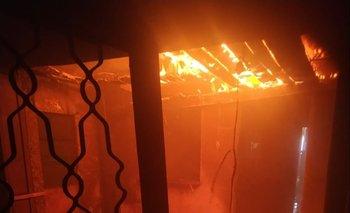 La llama se propagó en dos de los cinco ambientes en la casa de Pando