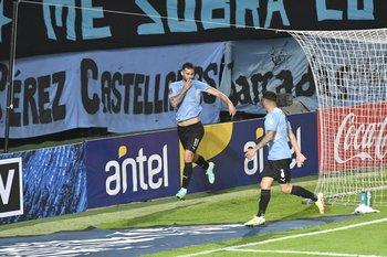 Pereir celebra su gol