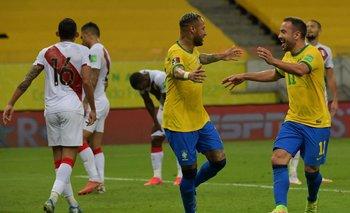 El festejo de Neymar con Everton Ribeiro
