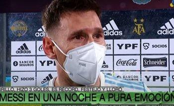 Las lágrimas de Messi tras la victoria ante Bolivia en la vuelta de los hinchas argentinos