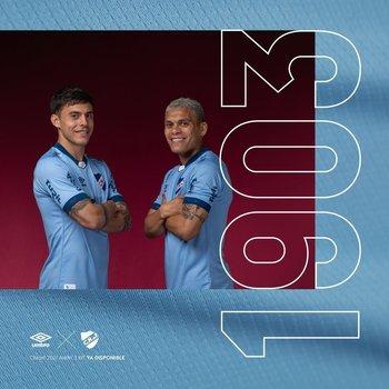 La nueva camiseta celeste de Nacional