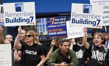 Una protesta del Movimiento de la Verdad del 11 de septiembre.