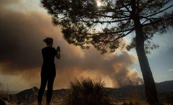 Un gran incendio que ya calcinó 6.000 hectáreas de bosques en cuatro días en la zona sur de Málaga