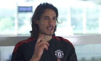 Edinson Cavani contestó las preguntas de los hinchas de Manchester United de distintos países del mundo