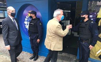 Heber visitó el stand del ministerio en la Expo Prado.