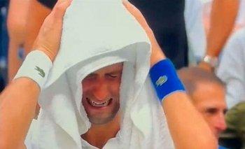 El llanto de Novak Djokovic tras perder la final del US Open ante Daniil Medvedev