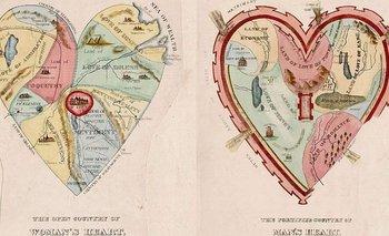 A la izquierda, el corazón de la mujer; a la derecha el del hombre