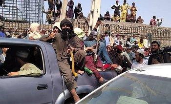 Combatientes talibanes en la provincia de Jalalabad en agosto, 2021
