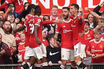 El festejo de Cristiano Ronaldo con sus compañeros