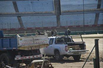 Así trabajan en el Estadio Centenario