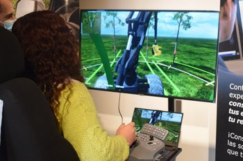 El simulador se puede probar en el stand de la SPF en la Expo Prado.