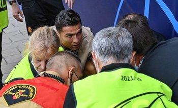 Ronaldo al ver cómo estaba la guardia