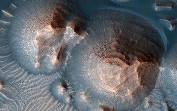 Cráteres en Arabia Terra